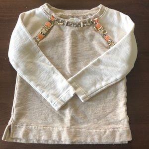 Crewcuts 4/5 sweatshirt with jewels